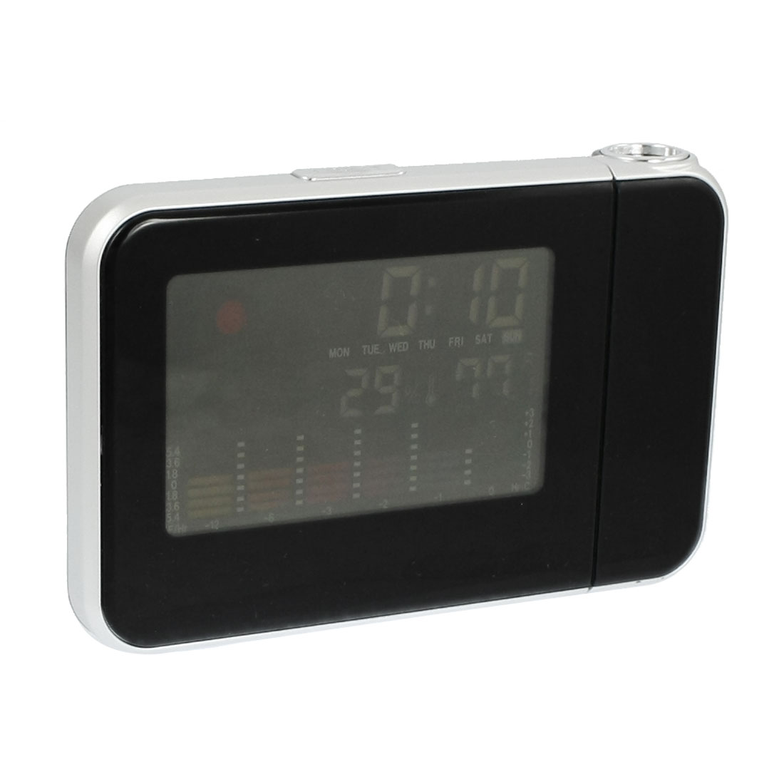 Multifunction Digital LCD Projection Clock Alarm Calendar Weather Forecast Station Humidity