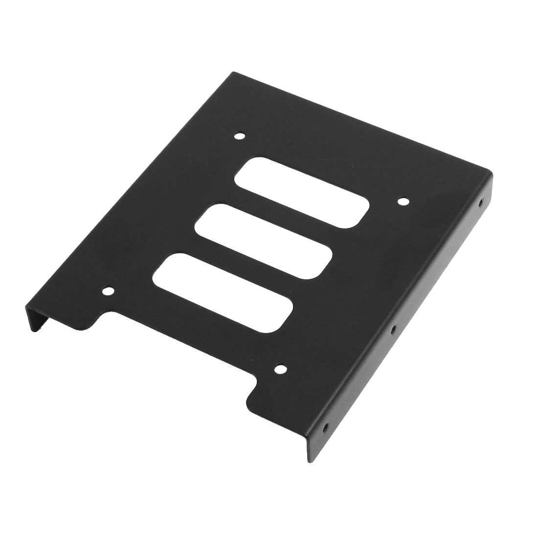 "Black Metal 2.5"" to 3.5"" SSD Mounting Adapter Bracket Hard Drive Holder"