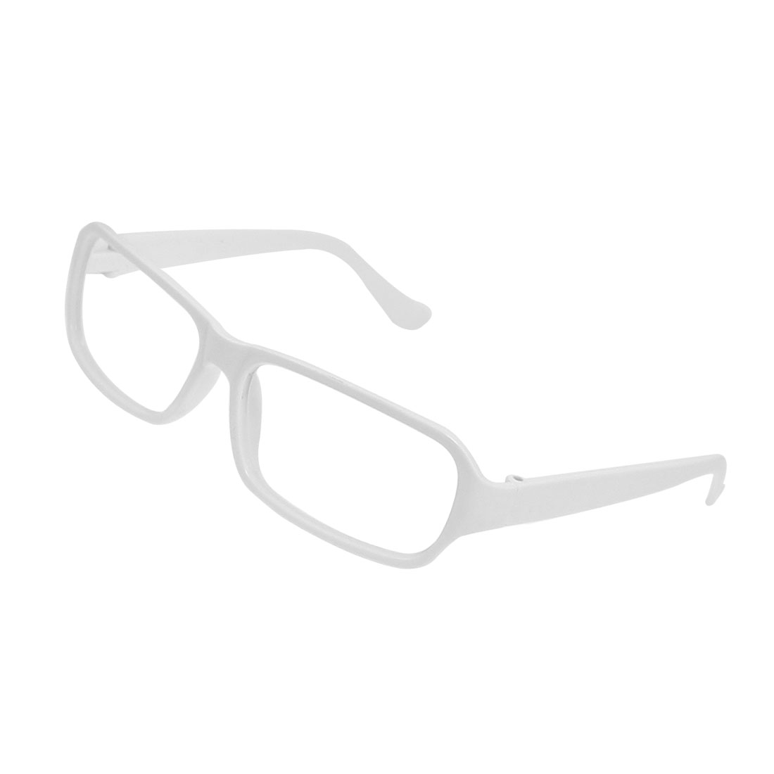 White Plastic Rectangle Full Rim Glasses Eyeglasses Frame for Ladies