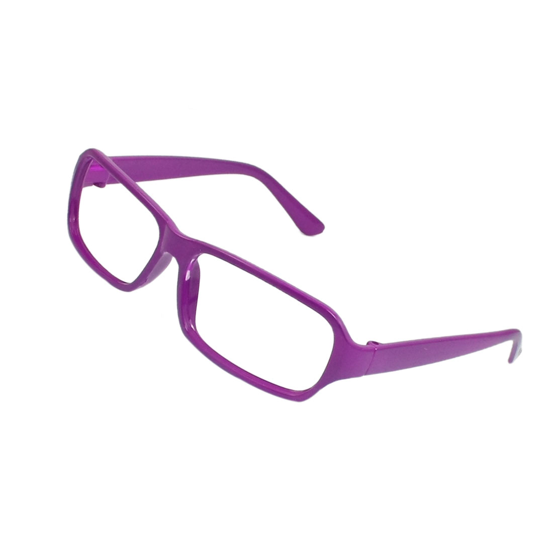Purple Plastic Rectangle Full Rim Glasses Eyeglasses Frame for Ladies