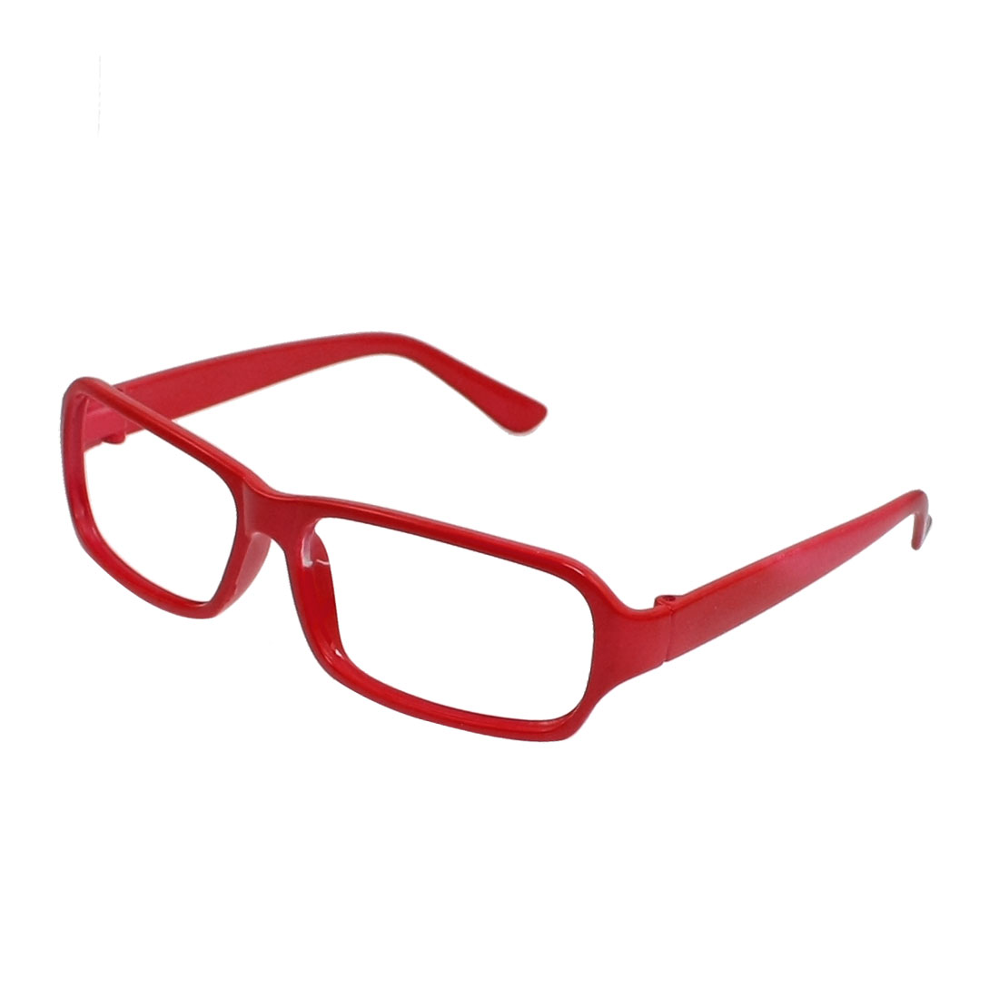 Red Plastic Single Bridge Full Rim Glasses Eyeglasses Frame for Ladies