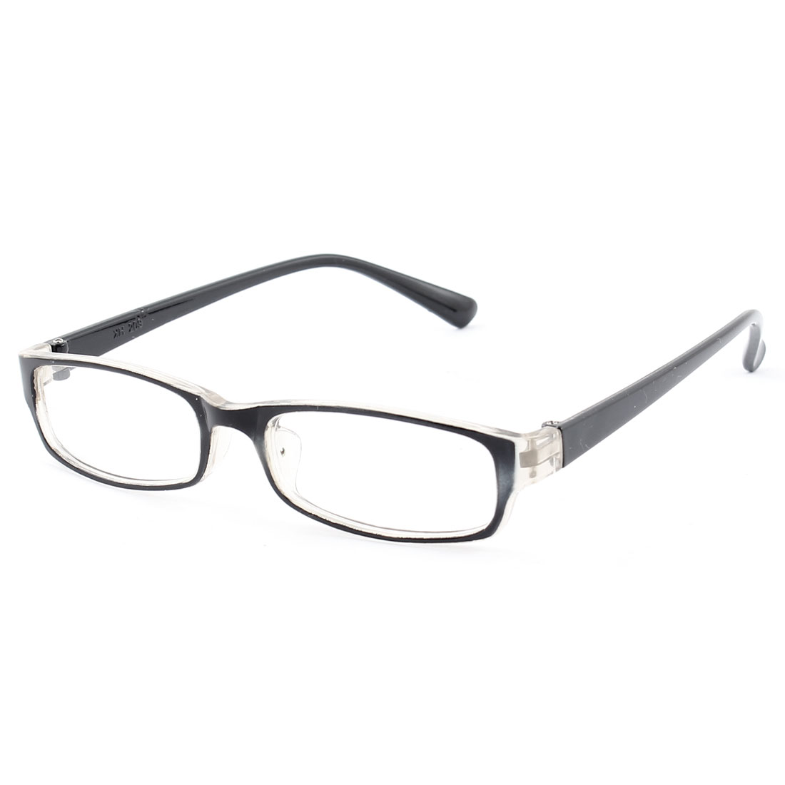 Kids Plastic Full Rim Rectangle Lens Plain Eyeglasses Plano Glasses Black Clear