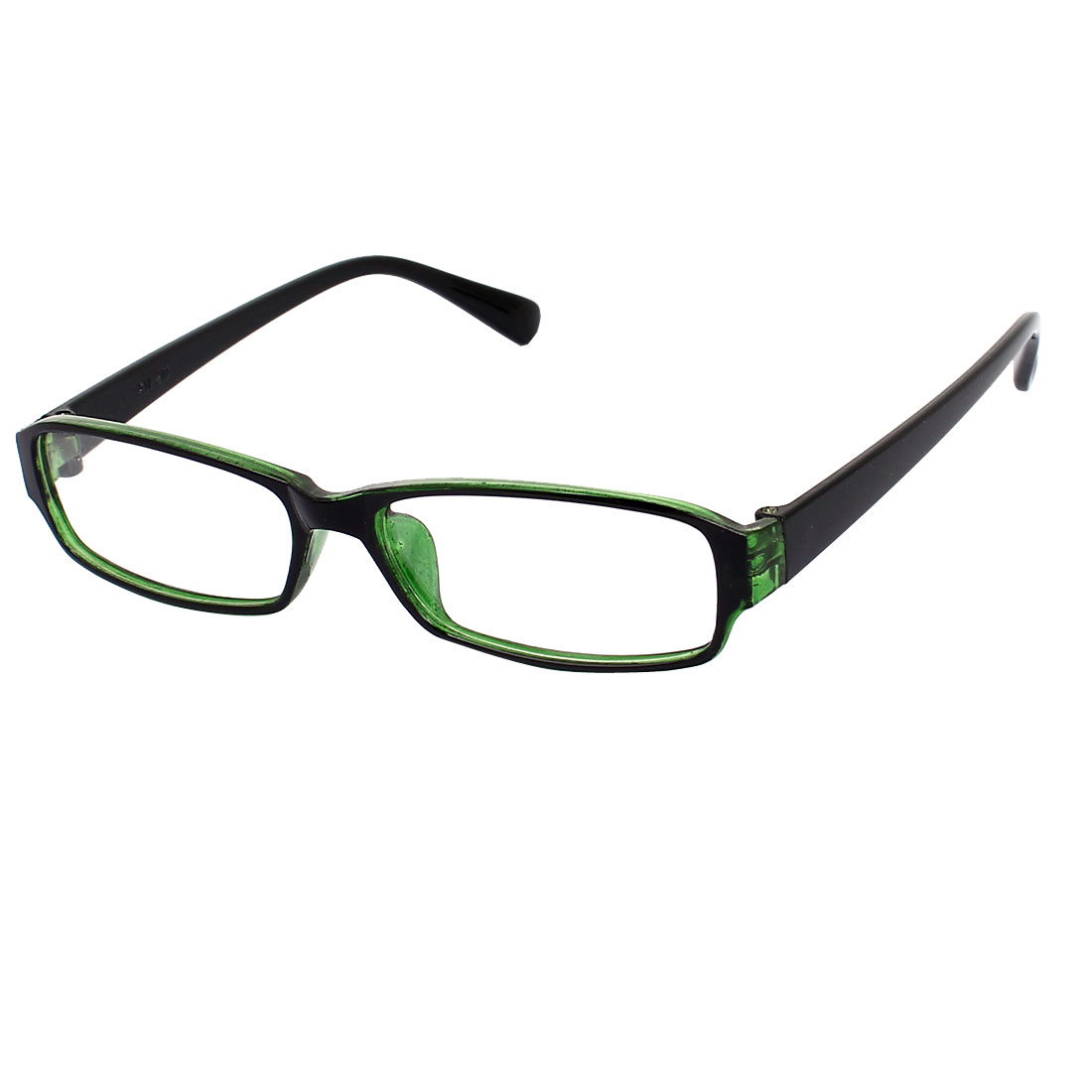 Black Green Plastic Full Rim Rectangle Lens Plain Eyeglasses Plano Glasses for Children
