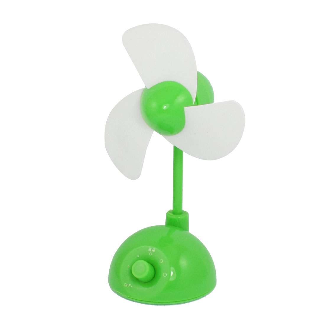 Wind Power Adjustable 1M Cable Laptop USB Fan Green White