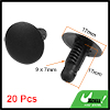 20 x Plastic Rivet Truck Car Door Trim Panel Retainer Clip Black