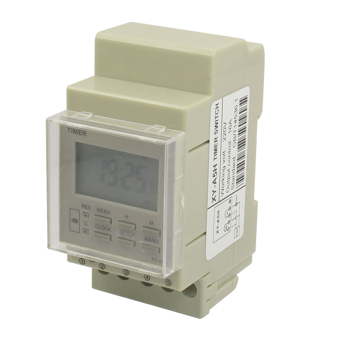 AC 220V 10A Din Rail Programmable Electronic Timer Switch XY-A5H