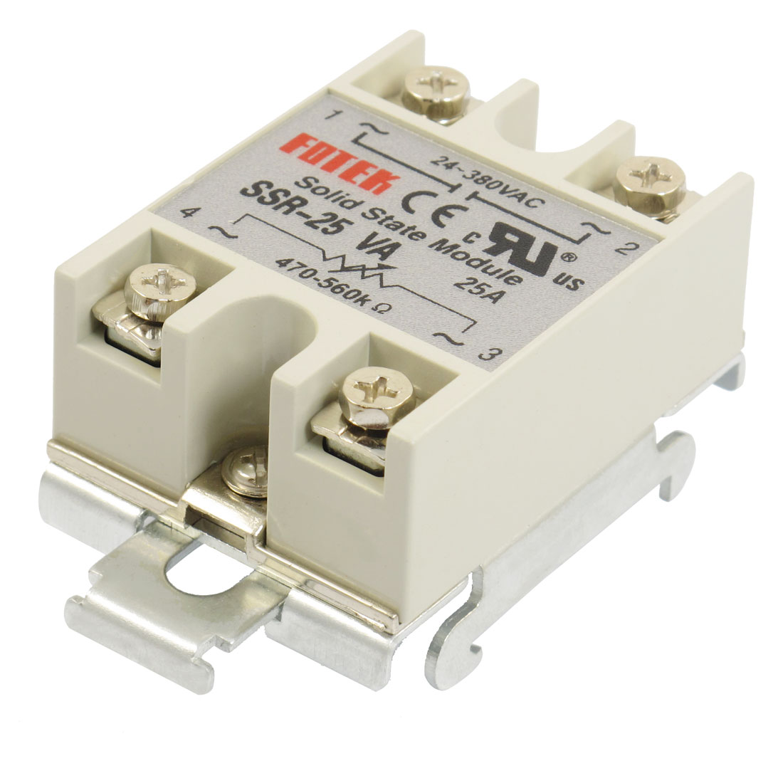 SSR 25A Single Phase Resistance Type Adjustable Solid State Relay DIN Rail Mount