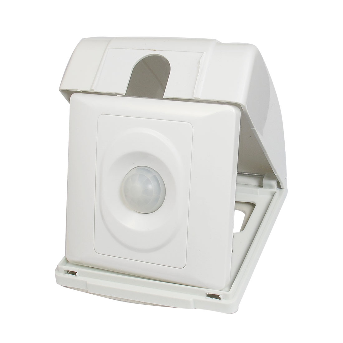AC 180-250V 50Hz 115 Degree 25-100W Load PIR Motion Sensor Switch w White Cover