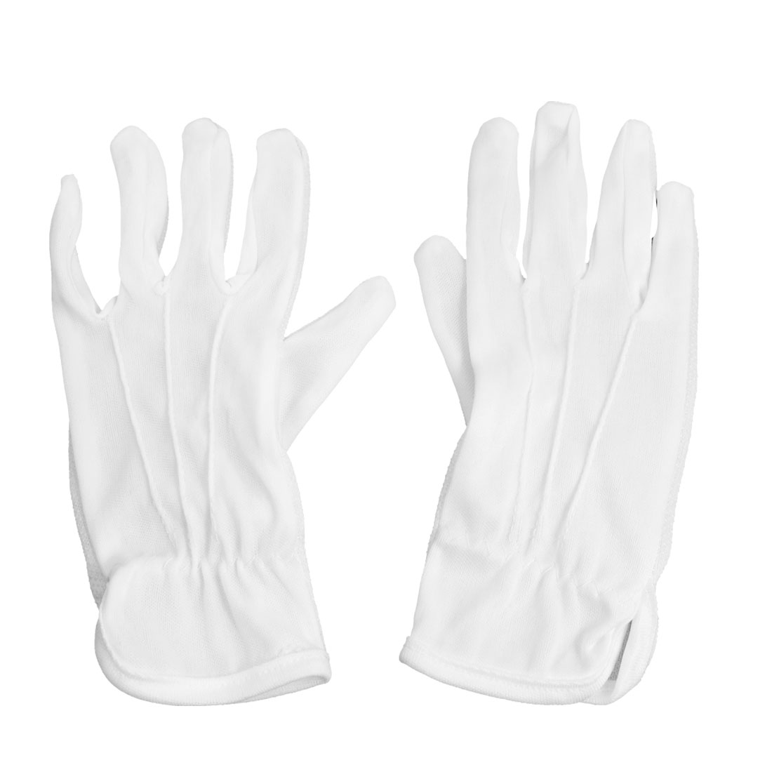 Nylon Rubber Non Slip Design Driving Industry Working Gloves White Pair