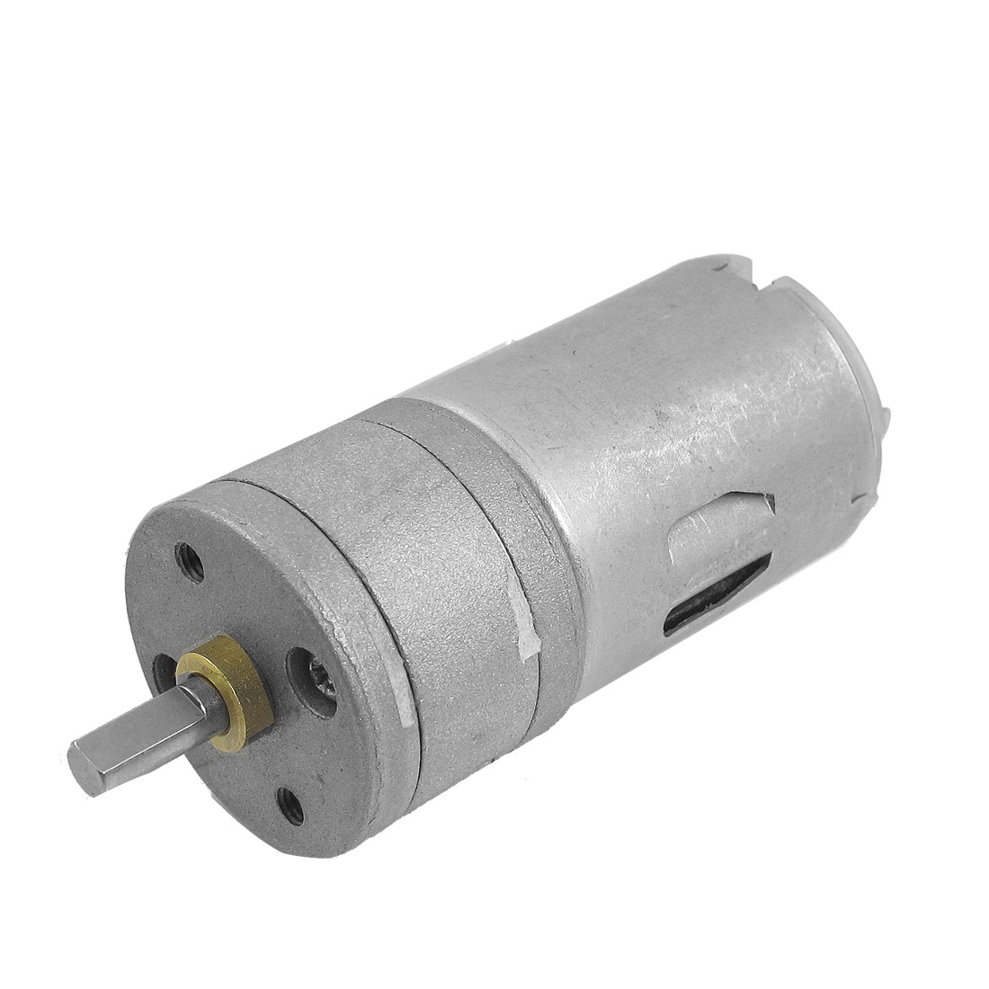 DC 6V 600RPM 1A 25GA 2 Terminals Electric Geared Motor Silver Tone