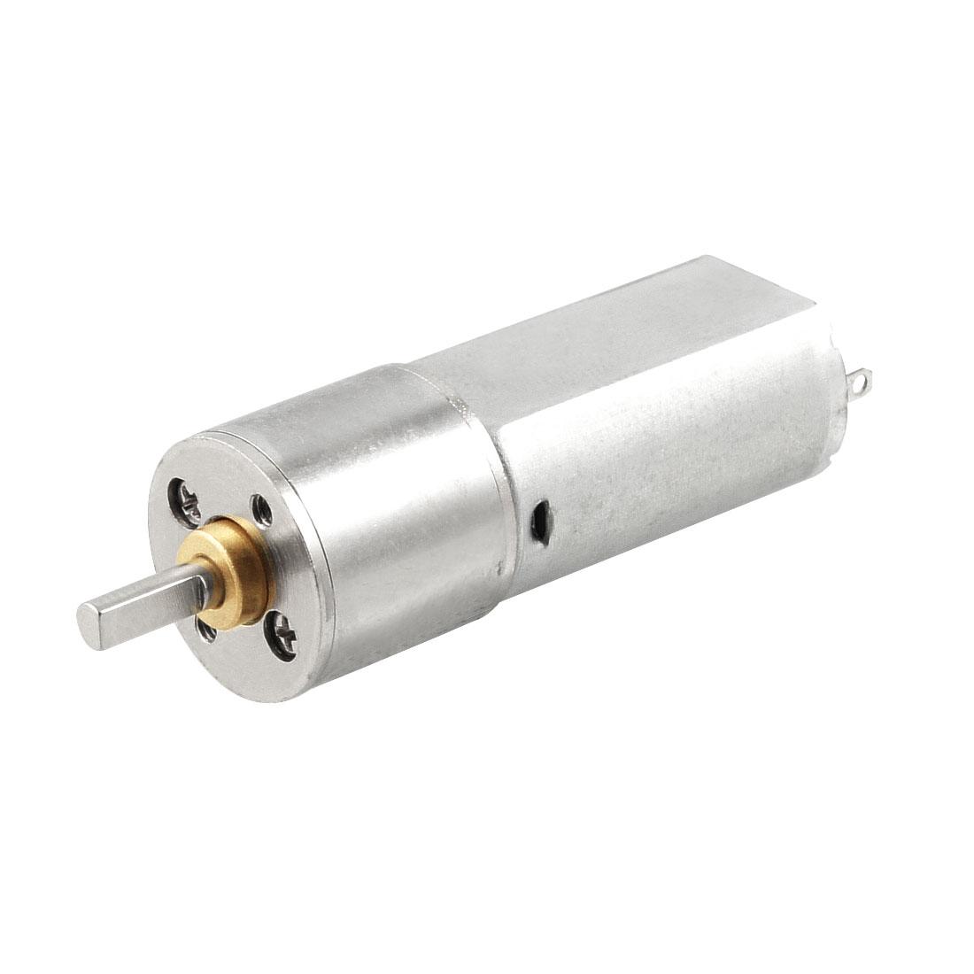 DC 6V 60mA 40RPM Gear Box Dia Robot Micro DC Geared Motor Silver Tone