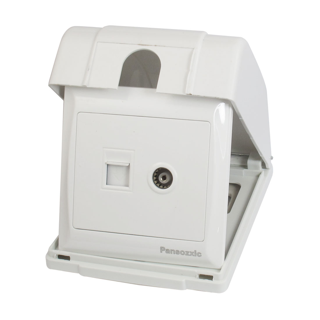 RJ11 TV Telephone Television Network Wall Outlet Plate w Splash Proof Box