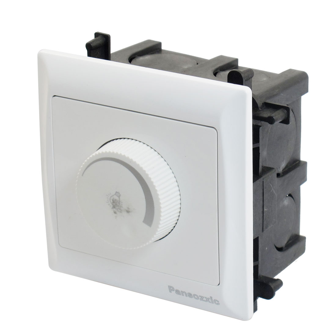 AC 150-250V 40-150W White Wall Panel Dimming Switch w Flush Mount Box