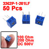 3362P-1-201LF 100 Ohm Potentiometer Variable Resistors 50 Pcs
