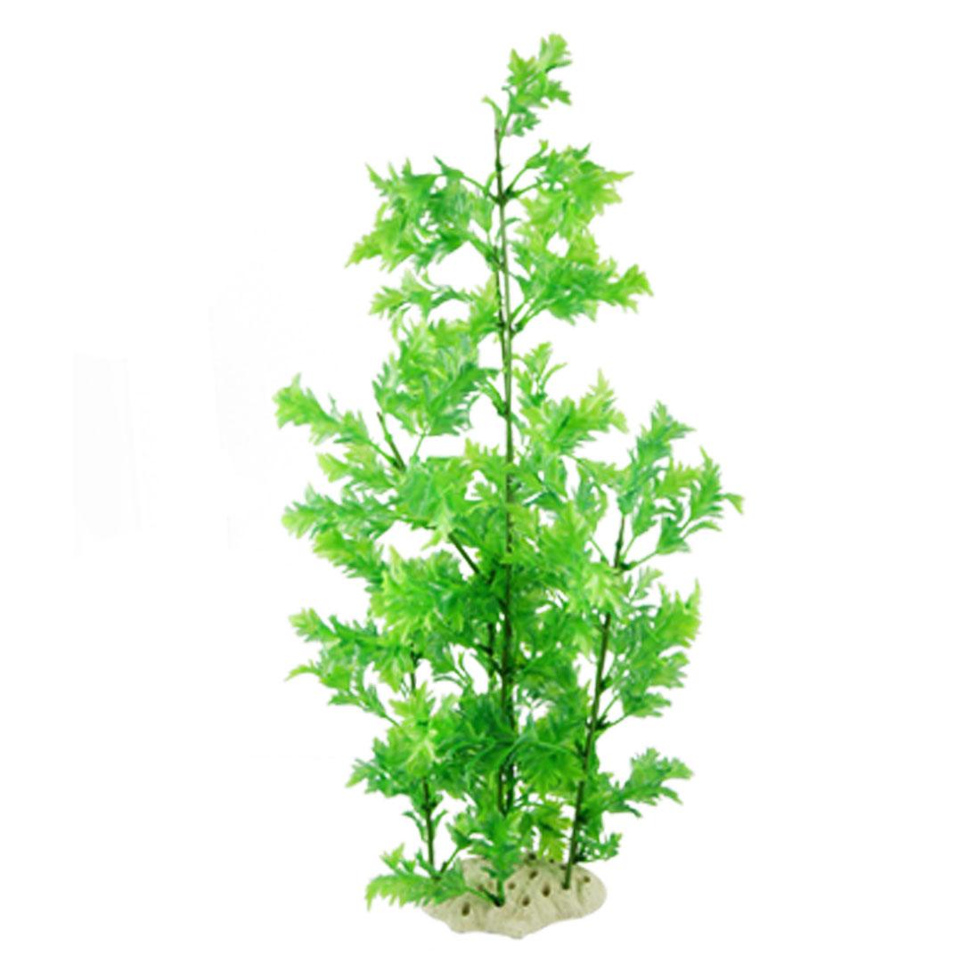 """18.5"""" Green Plastic Tree Underwater Grasses Ornament for Aquarium"""