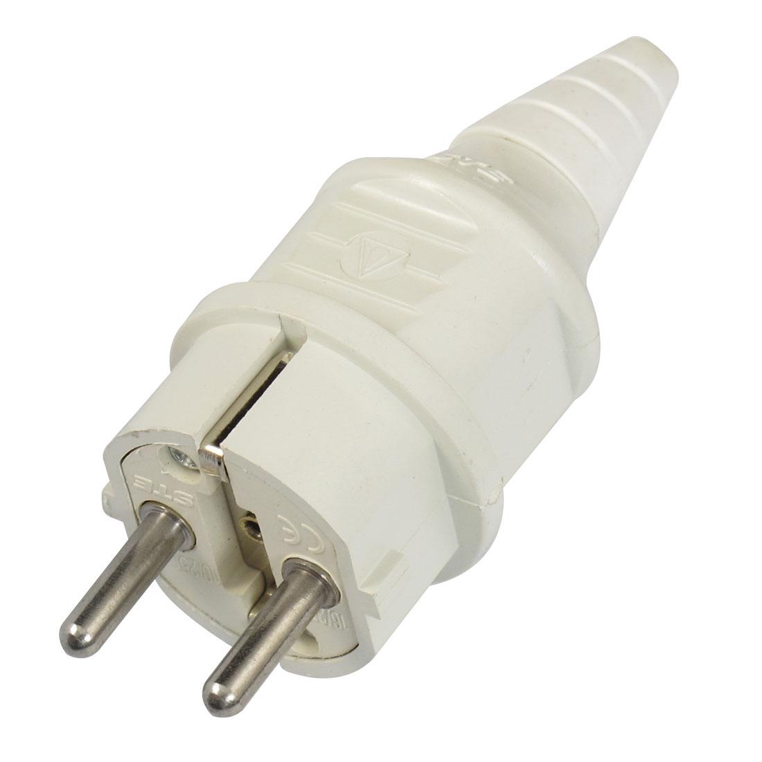 16A AC 250V IP44 2 Poles Industrial ST-105/02H White EU Plug