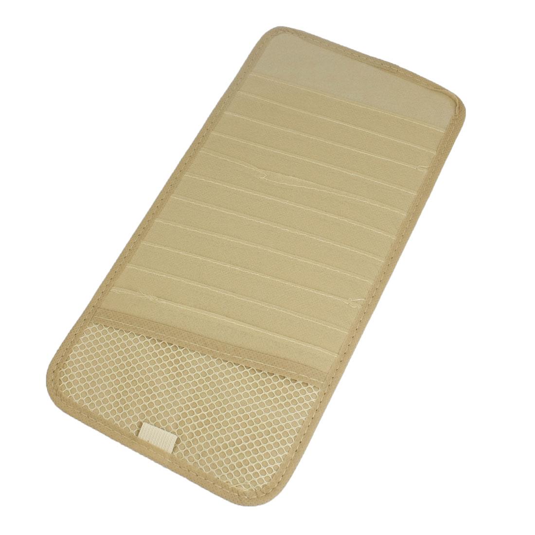 Khaki Non-woven Fabric Disk Card Case Car DVD CD Visor