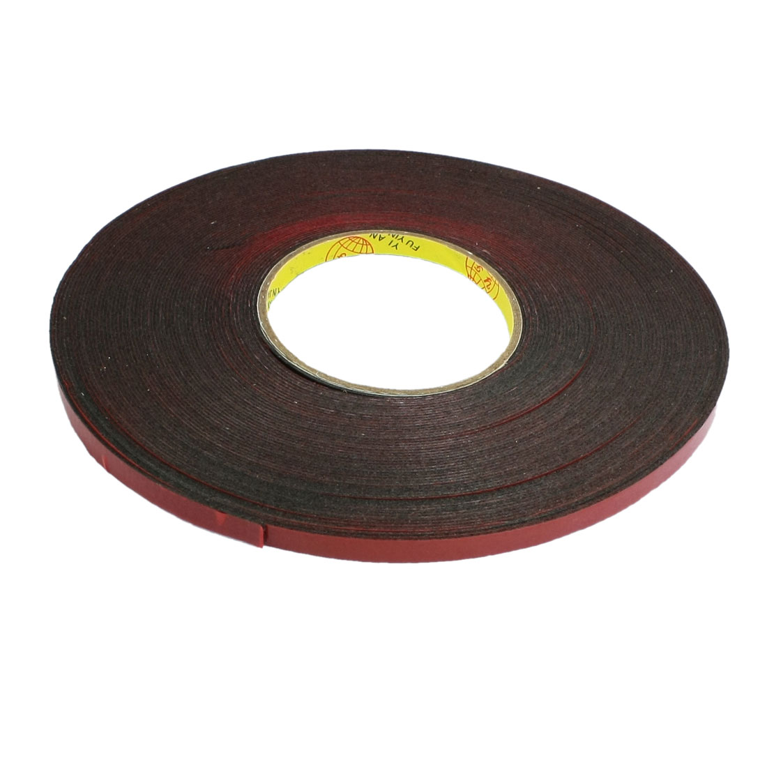 7mm Width 4.5 Meters Length Red Film Foam Double Sided Tape for Car Auto