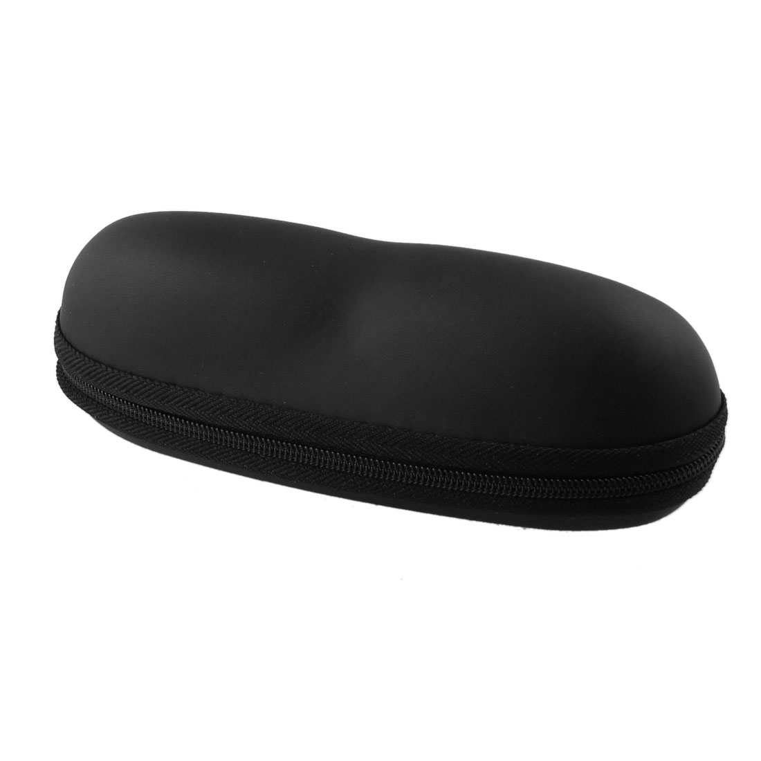 Zipper Closure Black Box Reading Glasses Sunglasses Case Holder