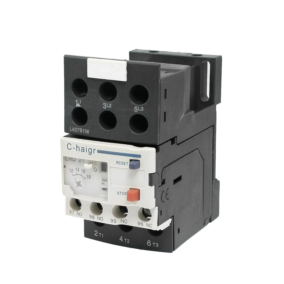 JR28-25 12-18A Electric 3 Pole Thermal Overload Relay 1 NO 1 NC