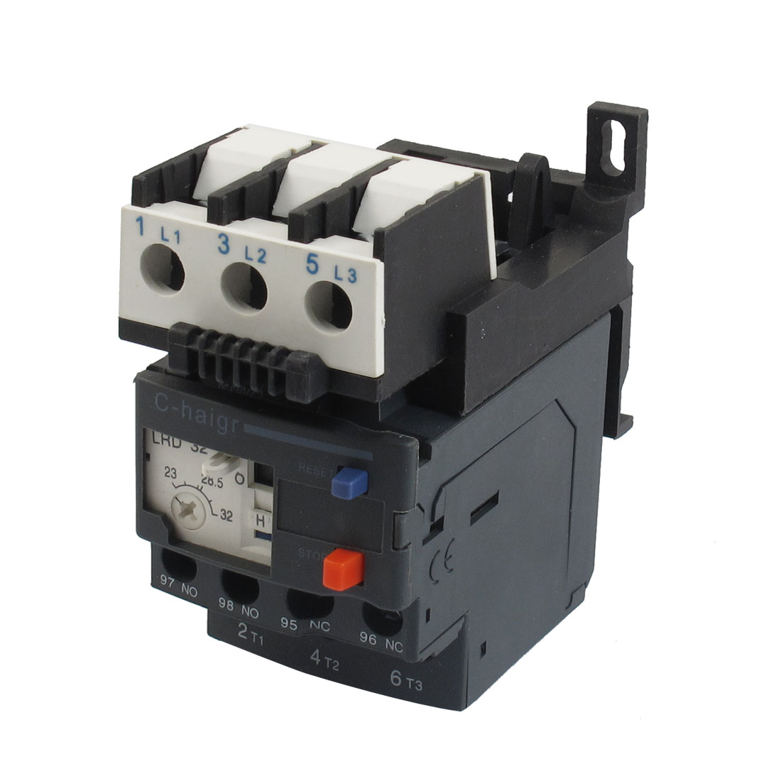 JR28-25 32A 690V 1NO 1NC 3 Phase Motor Thermal Overload Relay w Socket