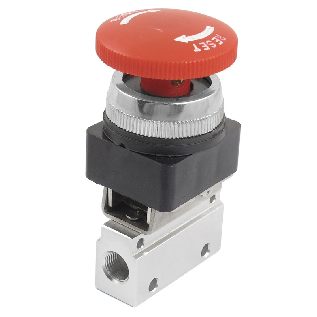 "1/8"" PT Thread Three Way Two Position Red Head Momentary Pneumatic Valve MOV-03"
