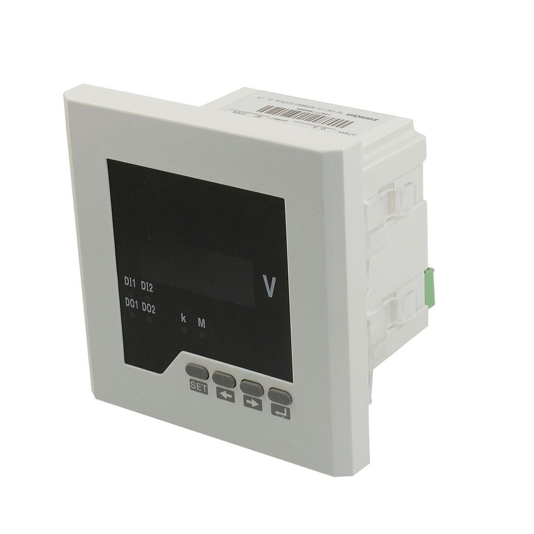 ZK-AV21 AC 220V 86 x 86mm Cutout 4 Digits Red LED Display Volt Meter