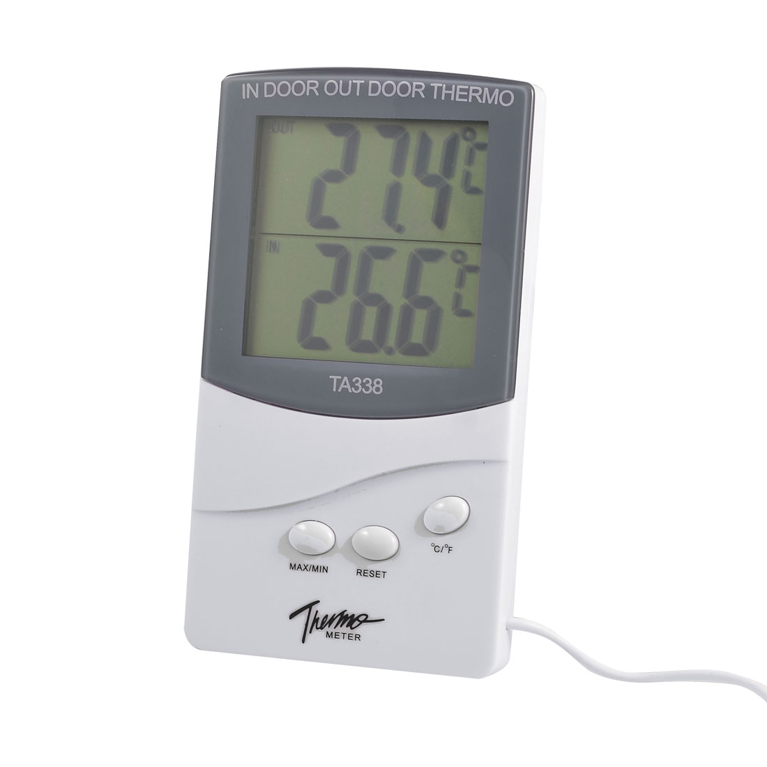 LCD Display Resettable Digital Indoor Outdoor Thermometer