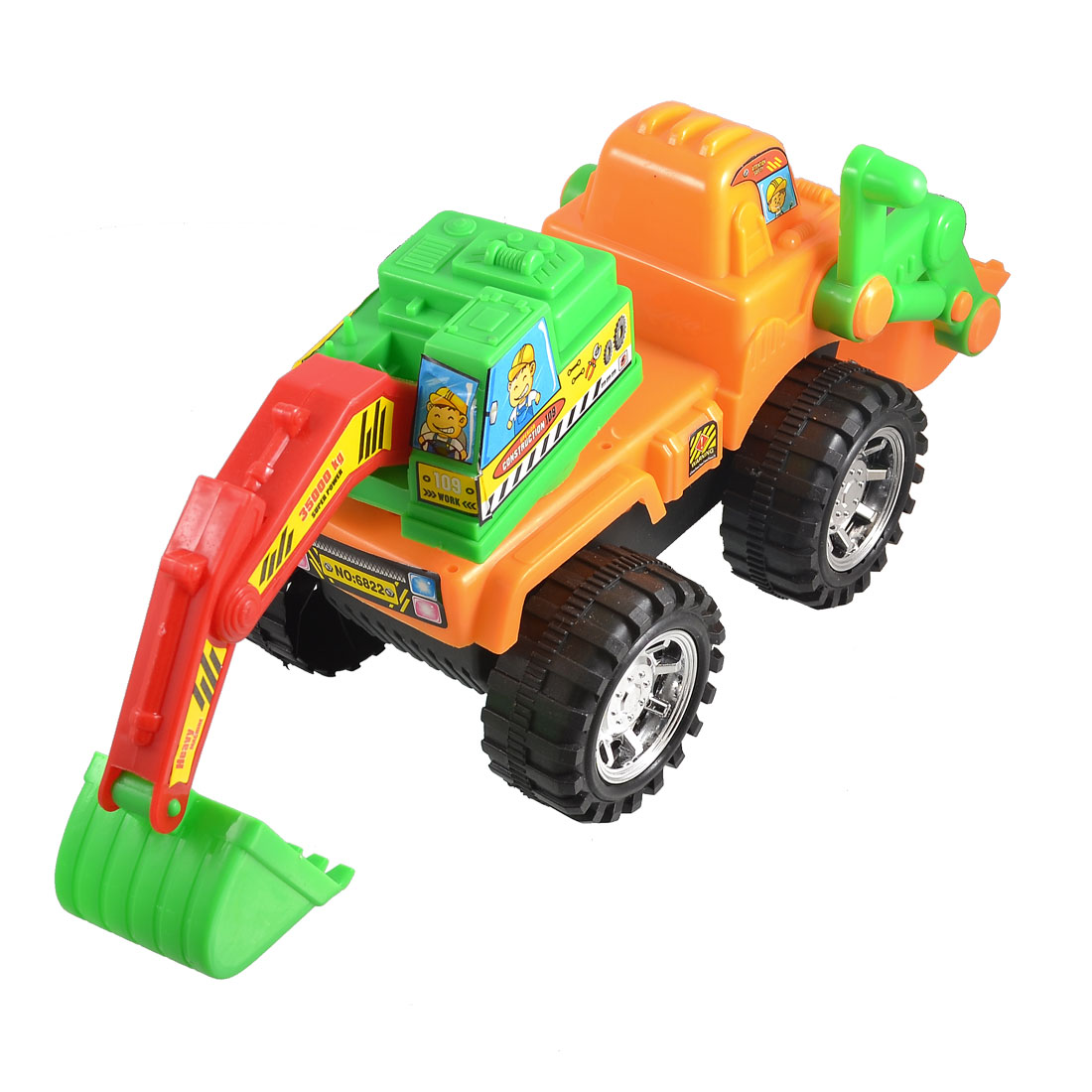 Kids Manual Plaything Assorted Color Plastic Earthworks Digger Car Truck Toy