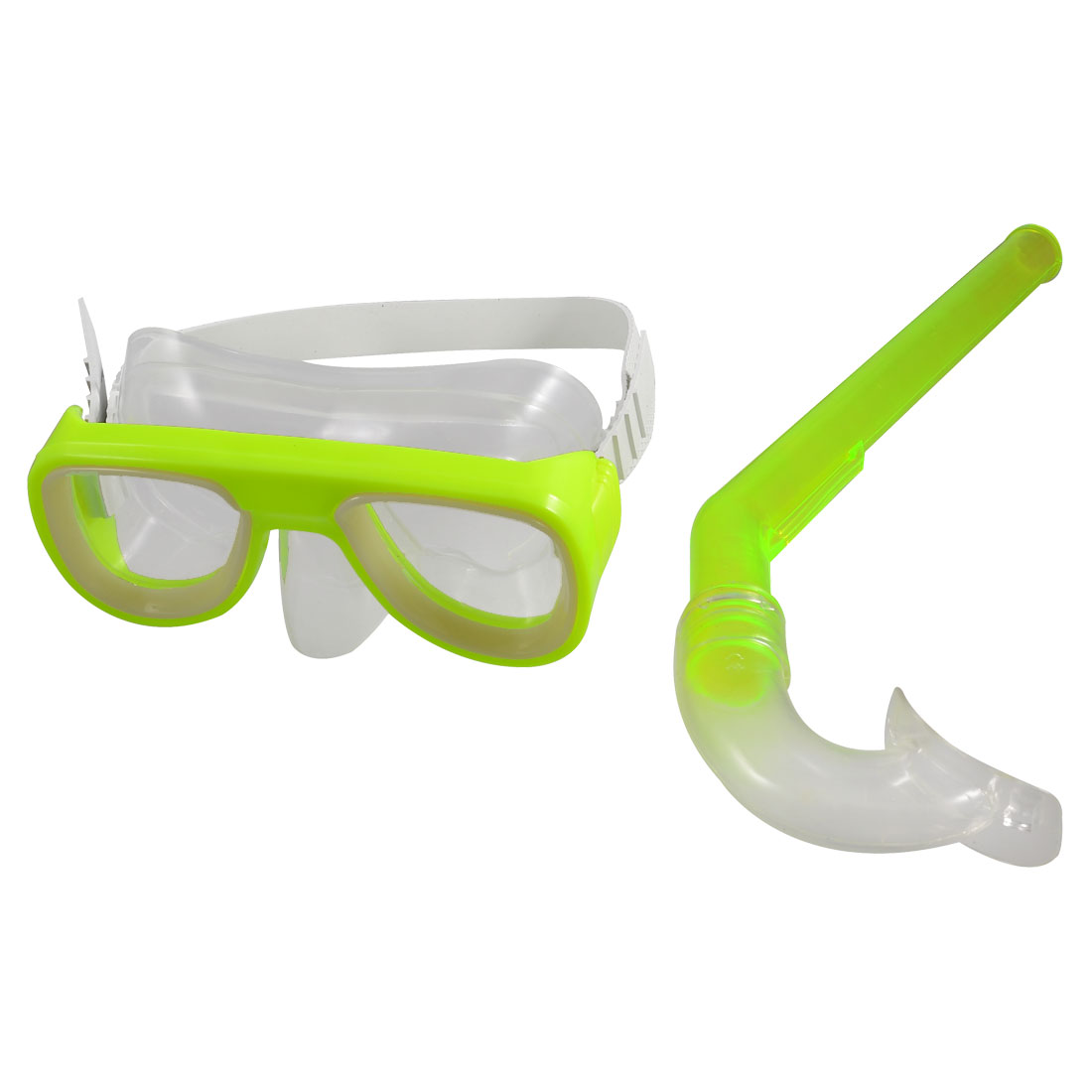 Children Adjustable Silicone Strap Clear Lens Swim Mask Swimming Snorkel Goggles
