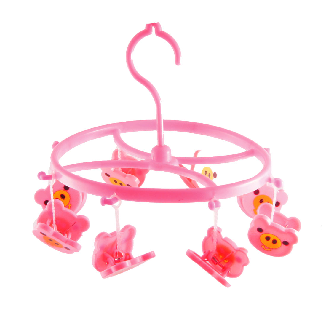 Household Pink Cartoon Piggy Clothing Drying Clips Clamps Hook
