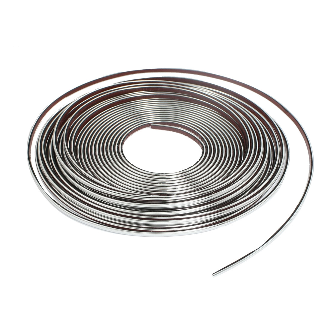 Car Window Silver Tone Soft PVC Adhesive Back Moulding Trim Strip Line 15M x 4mm