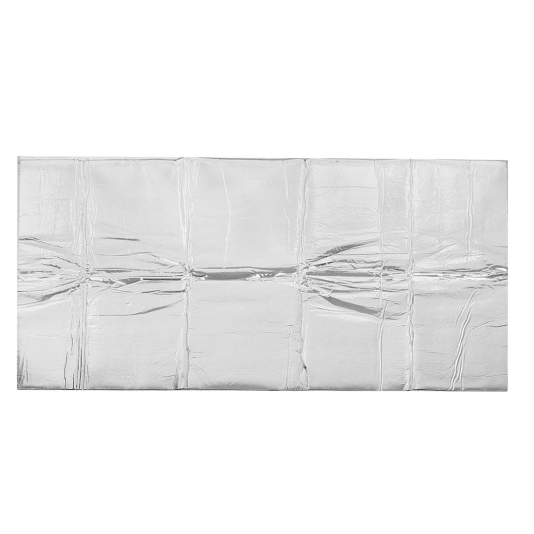 "Car Auto Silver Tone Glass Cloth 55.1"" x 39"" Heat Insulation Mat Pad"