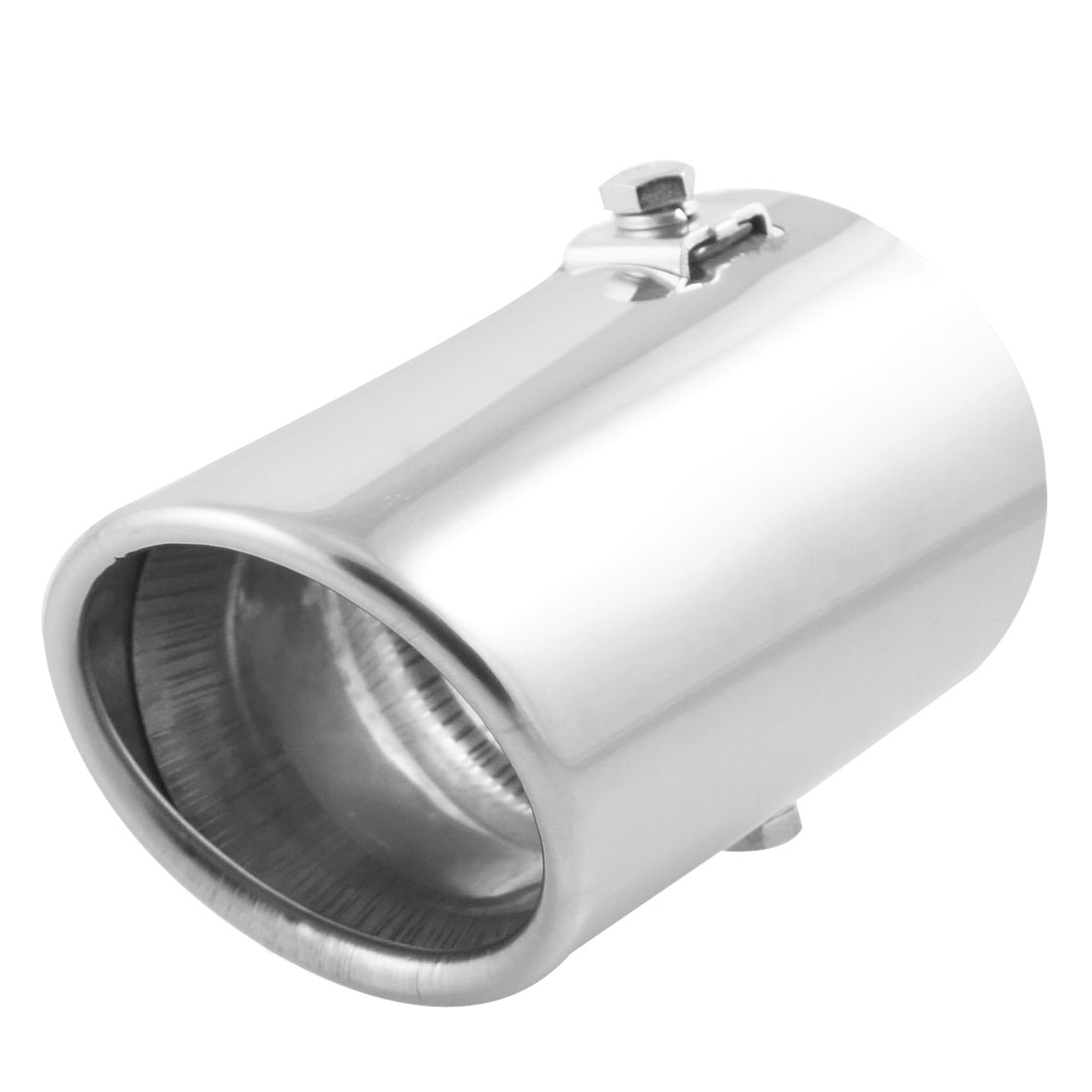 Silver Tone A21 10.5cm Long Outlet Muffler Exhaust Tip for Citroen C2