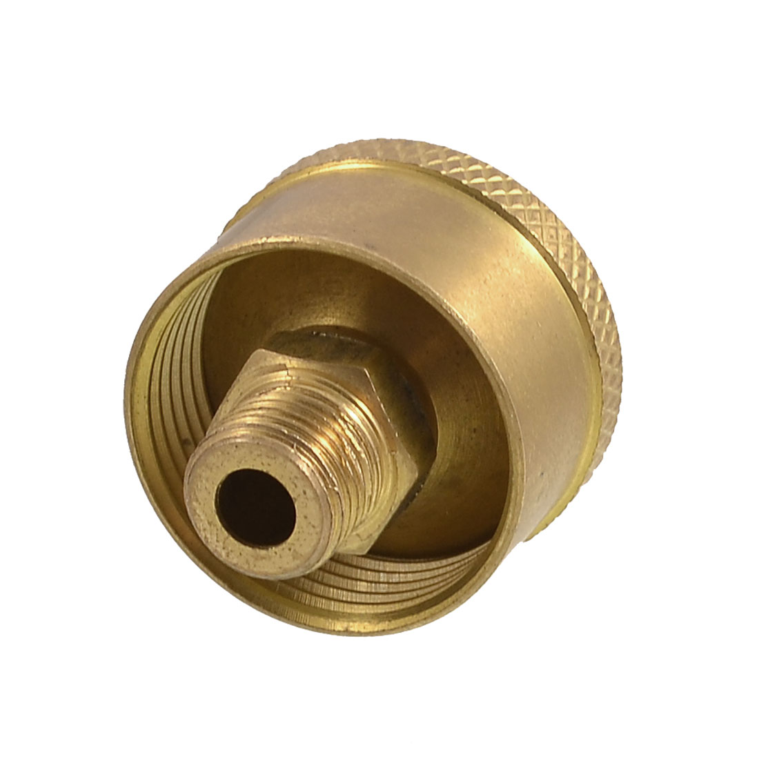 "Machine Parts 1/8"" NPT Thread Grease Oil Cup Cap Gold Tone"