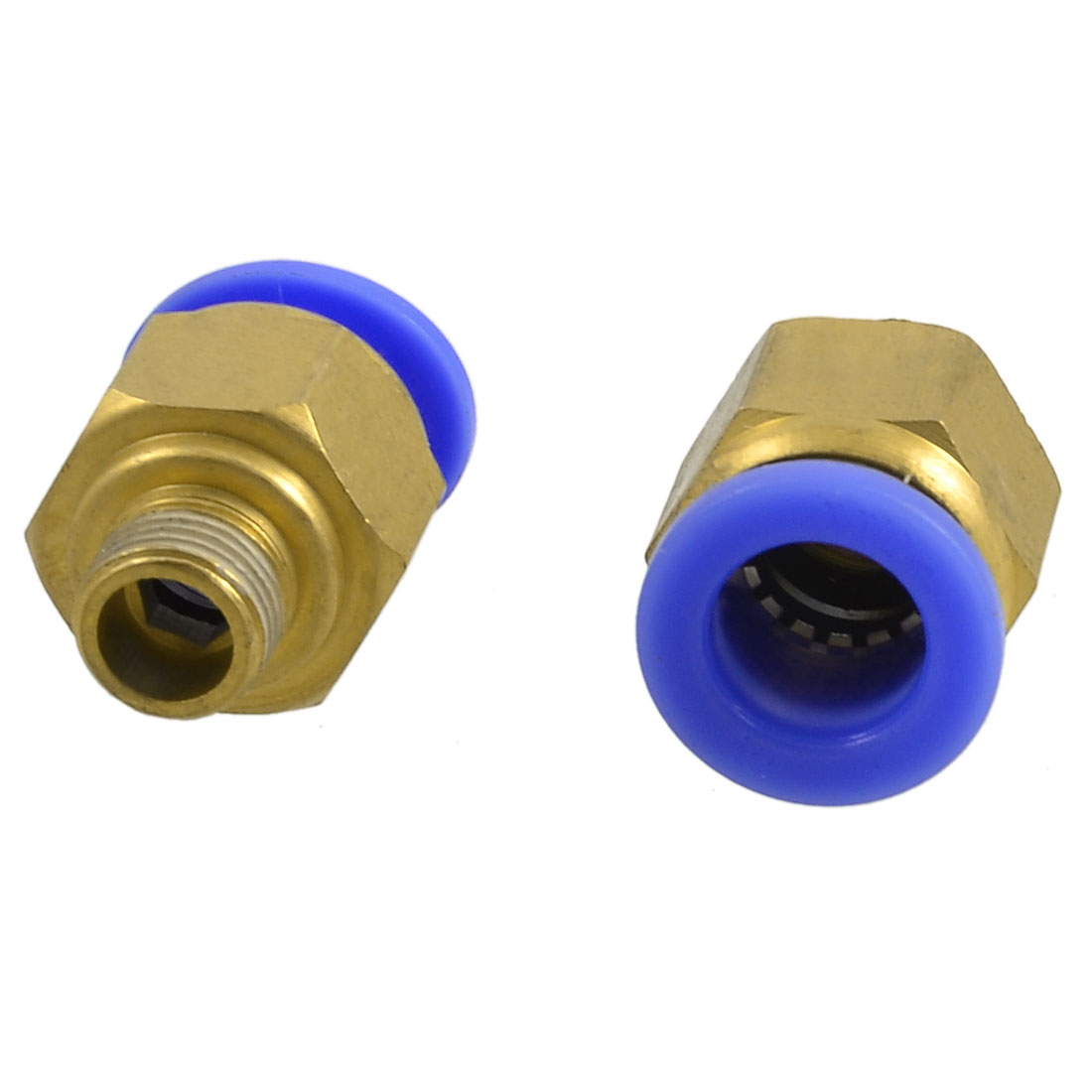 "2 x 1/8"" Thread One Touch Push In Pneumatic Quick Connector for 10mm Tubing"
