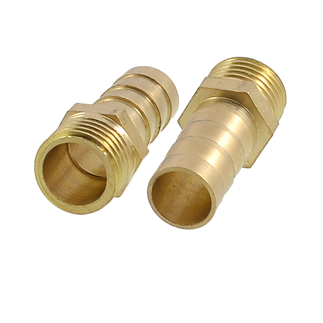 "2 x 10mm Hose 1/4"" PT Thread Brass Straight Barb Barbed Connectors"
