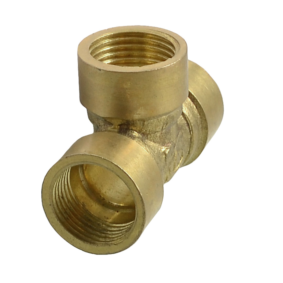 "Solid Brass Female 3/8"" PT Thread Water Hose Pipe Tee Connector"