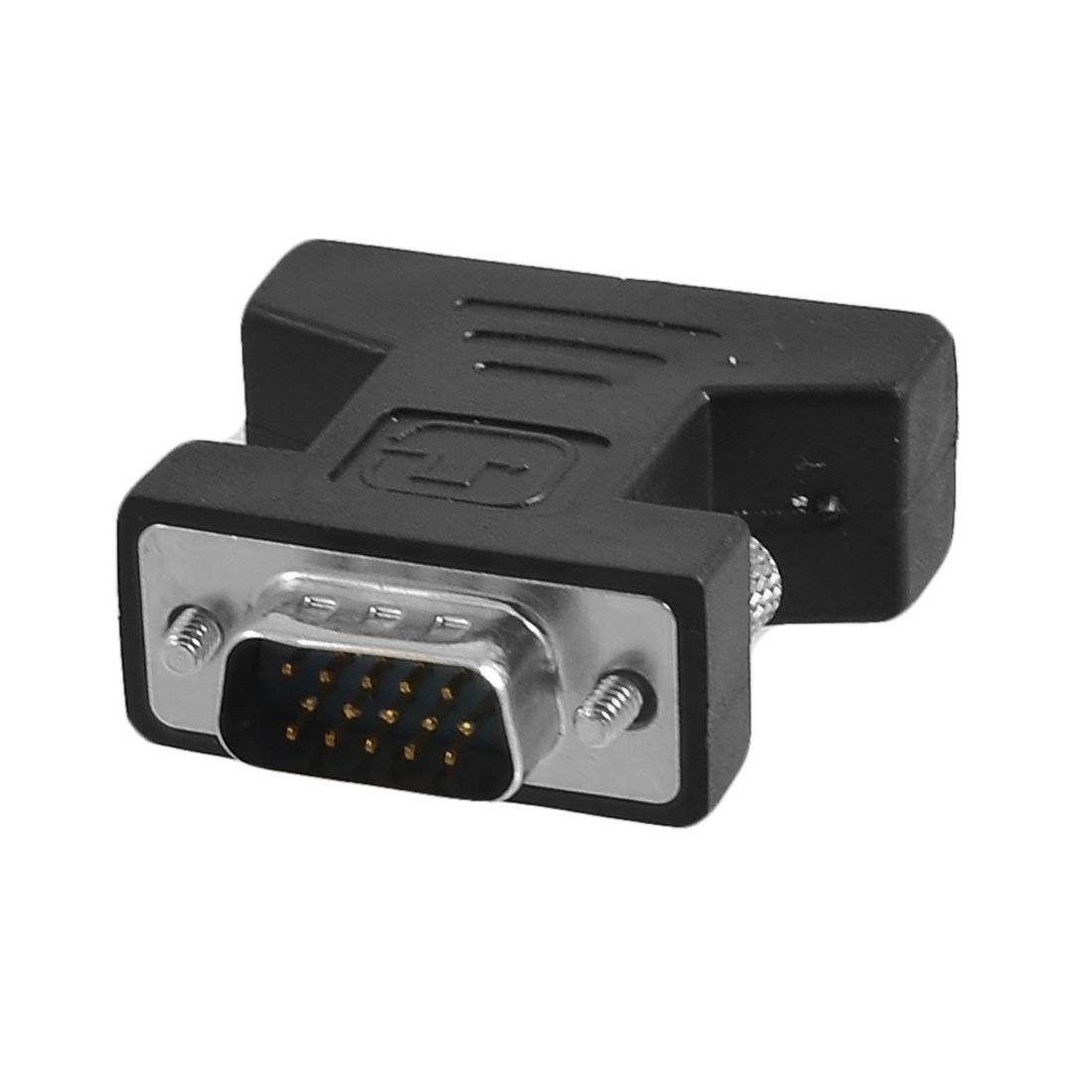 DVI-I 24+5 Pin Female to VGA Male Converter Adapter Connector Black