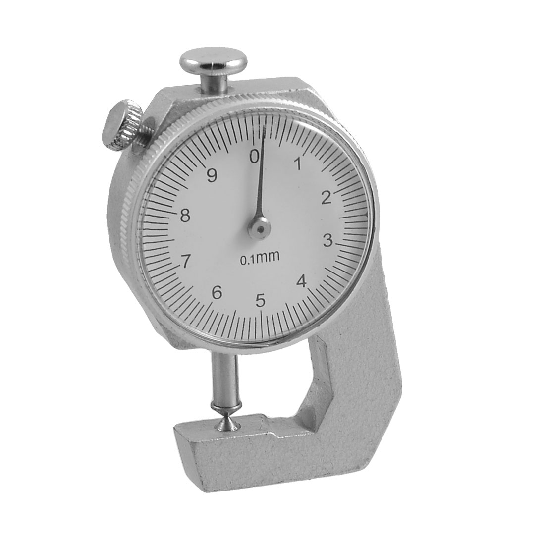 Round Dial 0-10mm Pocket Thickness Gauge Gage Silver Tone