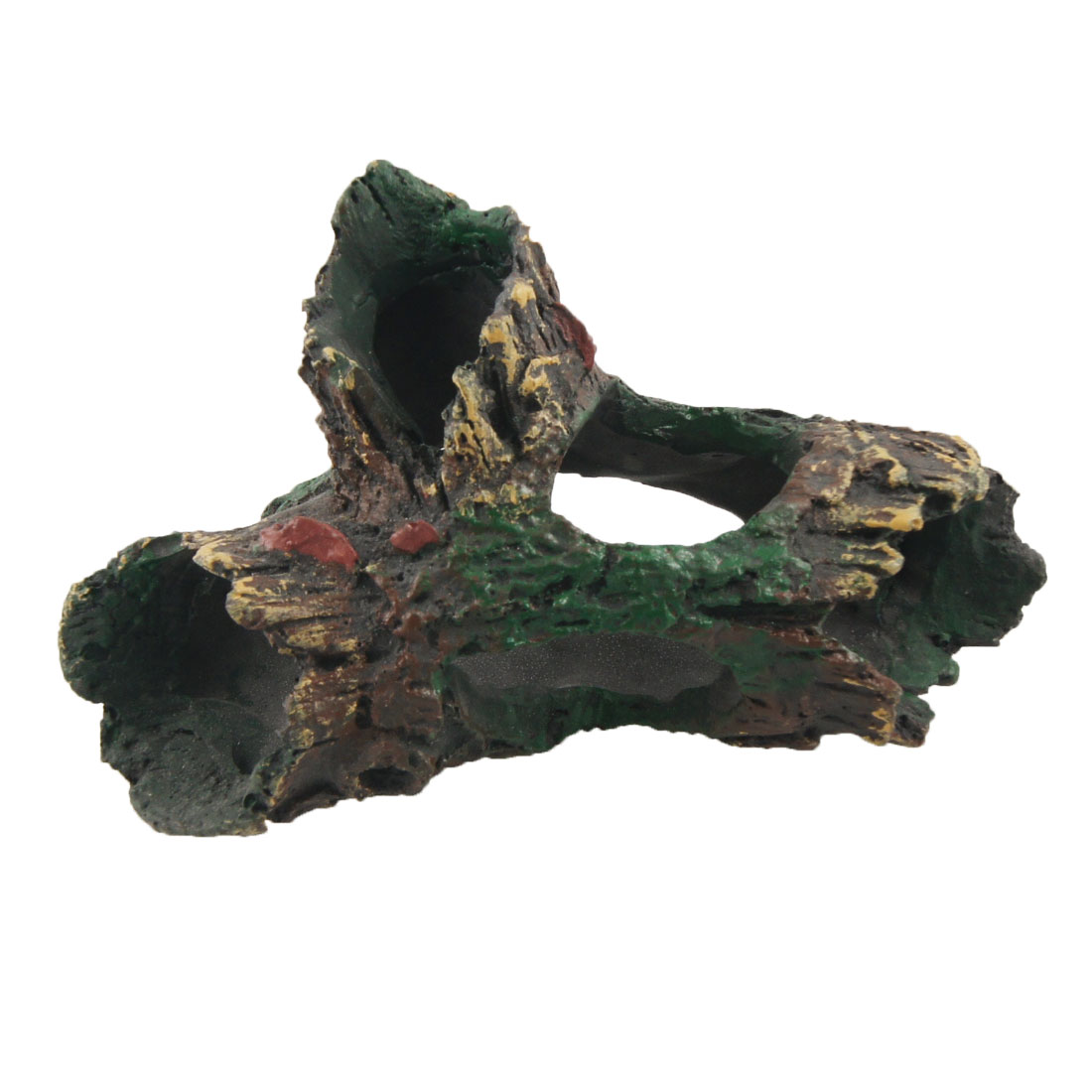Hollowed Out Tree Stem Shape Aquatic Resin Decor for Fish Tank