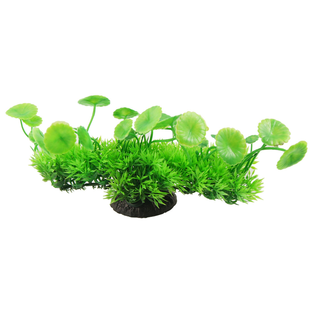 "Plastic Green 8.7"" Wide Artificial Plants for Fish Tank"