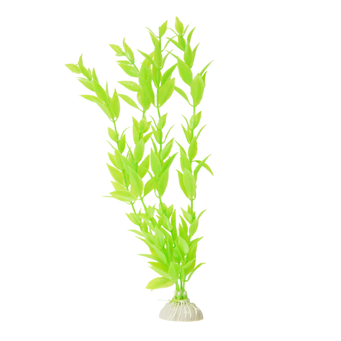 "Aquarium Green Plastic Plant Grass 11"" Height Decoration"