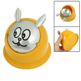 Cartoon Pattern Half Cover Plastic Cigarette Ashtray Orange