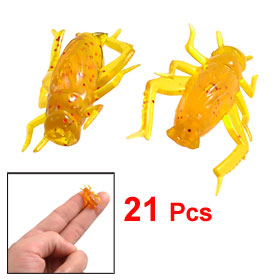 "21 Pcs Soft Plastic Amber Color Cimex Fishing Lures Baits 0.9"" Long"