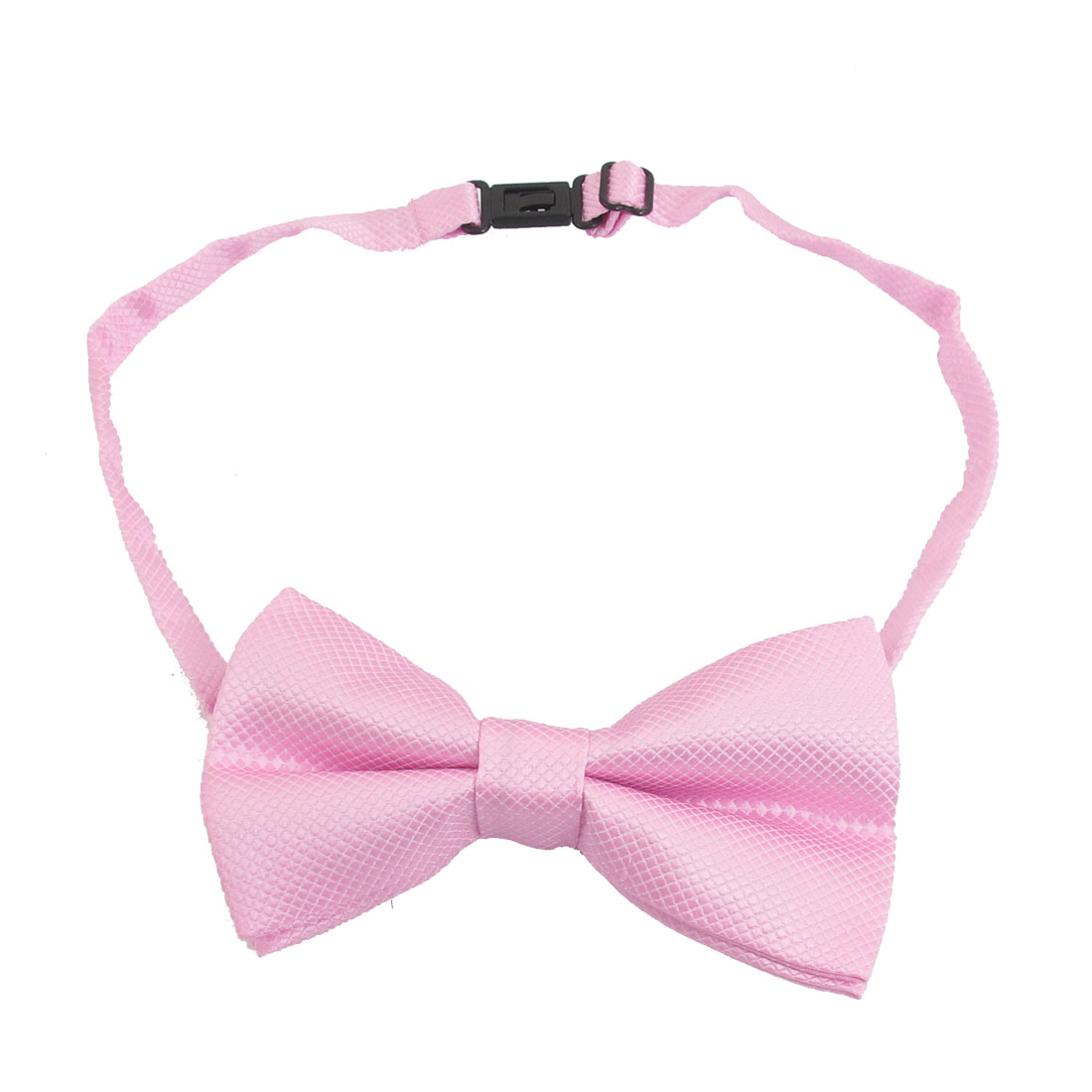 Pink Checked Adjustable Neck Strap Pre-tied Bowtie for Men