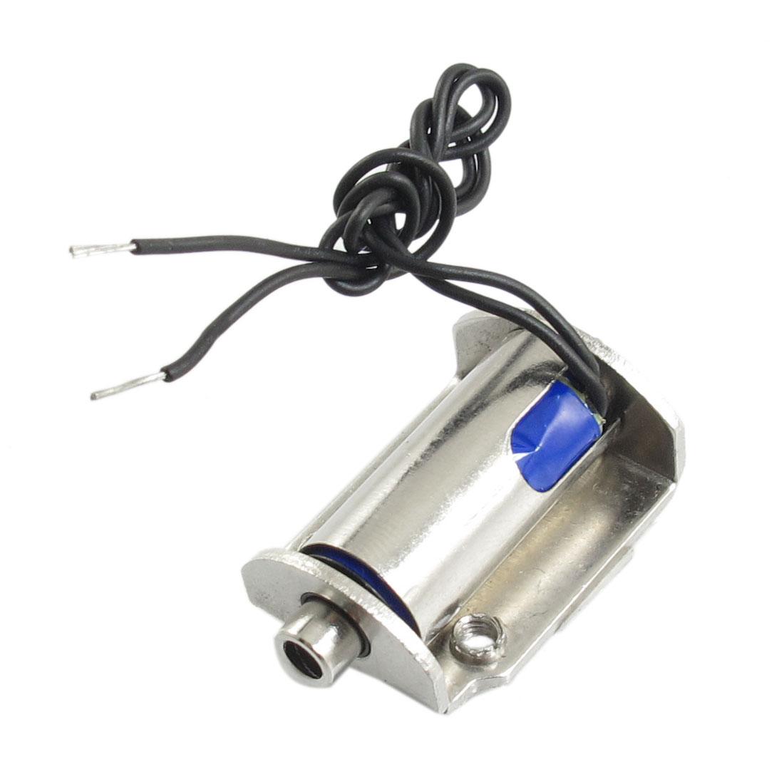 DC 6V 4mm Stroke 2.1W Push Type Solenoid Electromagnet