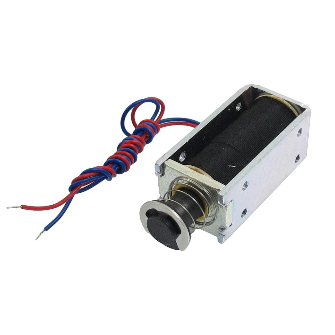 0946S-24D70 DC 24V 5mm Push Type Solenoid Electromagnet w Plunger