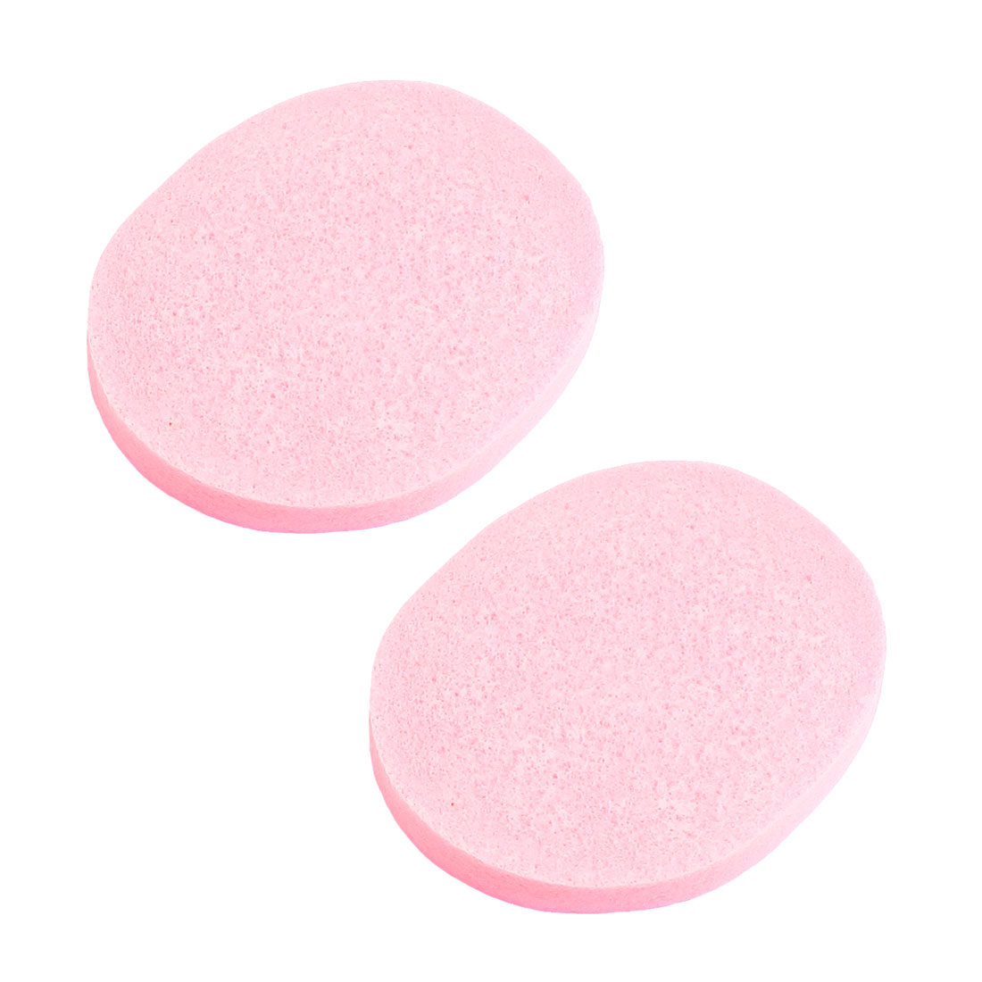 2 Pcs Cosmetic Oval Pink Sponge Facial Washing Cleansing Pads