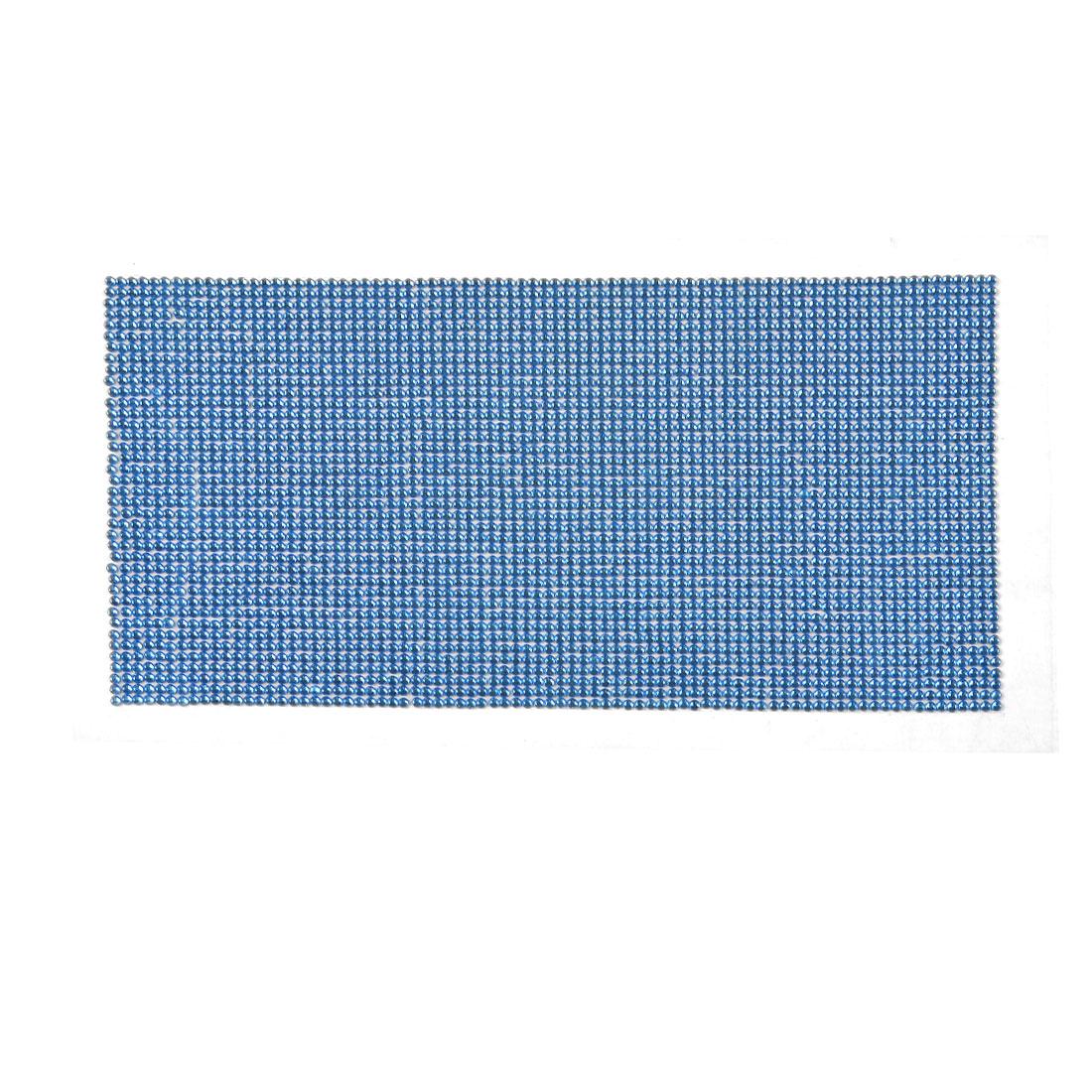 Car Self Adhesive Glitter Blue Plastic Crystal DIY Sticker Sheet